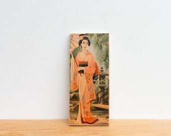Paint by Number Art Block 'Parasol Geisha' - asian art, japan, geisha girl, japanese geisha, vintage art