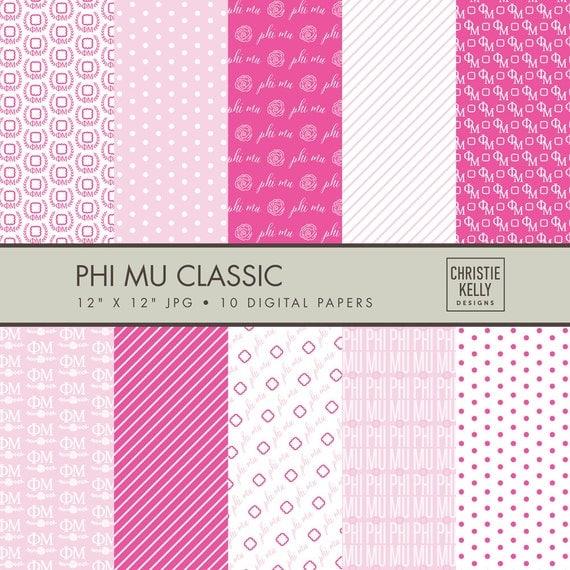 Phi Mu Digital Paper // Sorority Digital by ...