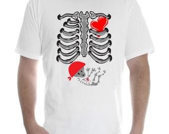 Pregnant Skeleton Women Bones ribs Baby t shirt funny halloween girl x-ray joke #Skeleton