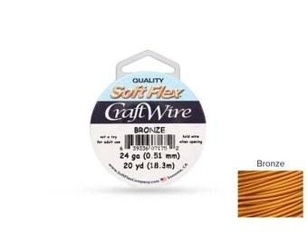 Craft Wire Soft Flex 24gauge Bronze 20yards  - 1 Spool (4699) Wholesale Price