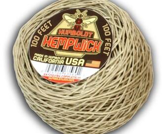 Humboldt Hemp Wick 100 Feet Hemp Beeswax Lighter