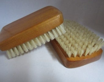 Two Vintage Mahogany Clothes or Hair Brushes Brush Set by Mohawk