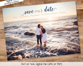 save the date wedding RSVP announcement party invitation couples shower bridal shower rehearsal dinner engagement invitation (item 357)
