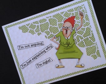 Humorous Girlfriend Card -