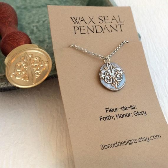 Fleur-de-lis Wax Seal Necklace