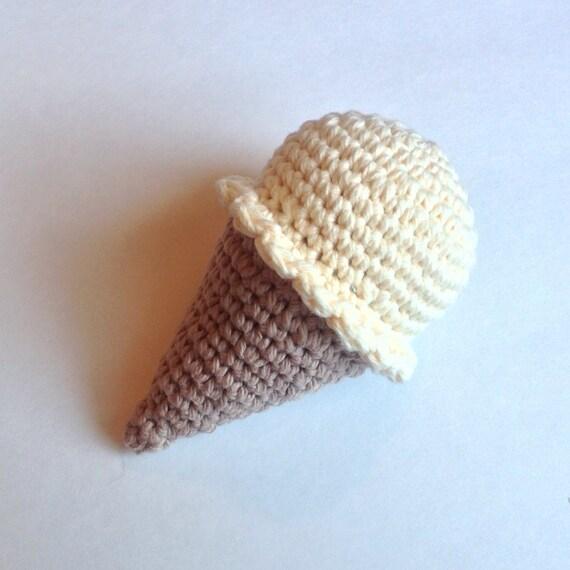 Amigurumi Ice Cream Cone : Amigurumi Crochet Ice Cream Cone Play Food