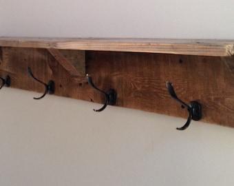 Reclaimed Wood Coat Hooks/Shelves