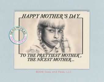 THE BAD SEED - Funny Mothers Day Card - Bad Seed Mothers Day Card - Funny Mom Card - Pop Culture Card - Bad Seed - Mother's Day - Item P015