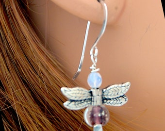 Firefly Earrings - Glow-in-the-dark - Sterling Silver - Handmade