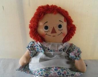 Vintage Raggedy Anne Doll Knickerbocker 60's Like New