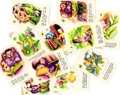 11 Vintage Jack and the Beanstalk Story Game Cards - Mixed Media, Altered Art, Collage, Scrapbooking, Assemblage Supplies