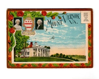 Vintage Mount Vernon Virginia Postcard Souvenir Folder