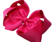 4 Inch Boutique Bow  1.5 Inch Ribbon