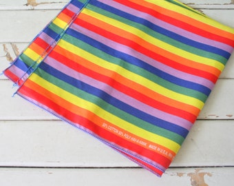 Vintage RAINBOW STRIPED Scarf Bandana....colorful. rainbow. hipster. retro scarf. 1980s. mod. head. neck. groovy. bright. bold. bandana