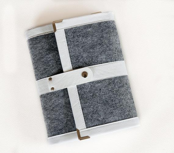 Gray White Planner Cover / Ring Binder / Agenda/ Organiser/