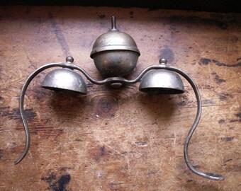 Vintage Horse Carriage Bells - Saddle Mount Bells - Equestrian Decor