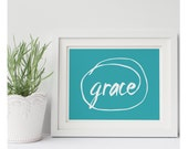 Wall Signs Grace Wall Sign Home Decor Wall Art Decor Turquoise Decor Gifts Under 20 Gift Idea Inspirational Home Decor Encouraging Sign