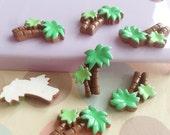 5pcs of resin coconut tree diy crafts cabochon 20x15mm flatback