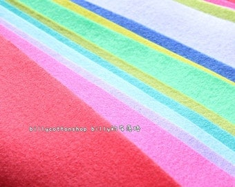 w510_95 - Wool Felt Sheets - scrap bundle - (30cm x 30cm) X 10 pieces