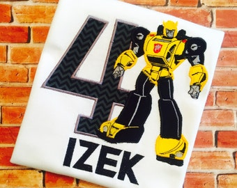 Transformers Bumble Bee Inspired  Birthday Shirt