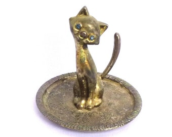 Mod Vintage BRASS KITTY PAPERWEIGHT