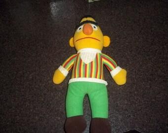 Vintage Bert Rag Doll Sesame Street - Knickerbocker - Muppet dolls