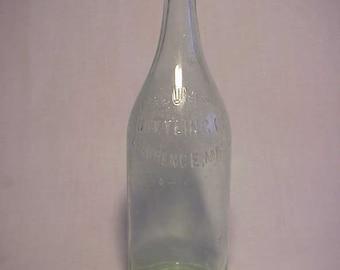 c1920s Columbia Bottling Co. Lawrence, Mass. , Aqua 26 Ounce Soda Bottle
