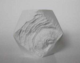 Vintage White Bisque Porcelain 'Rock' Vase - Kaiser 1970s
