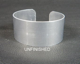 Aluminum Cuff Bracelet Blanks, 1 inch x 6 inch, unfinished, perfect for decorating with alcohol inks, decoupage, bead embroidery