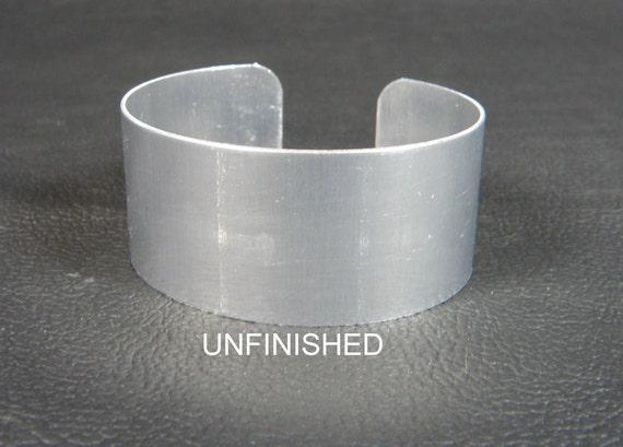 """1"""" x 6"""", one dozen (12) Aluminum Cuff Bracelet Blanks unfinished"""
