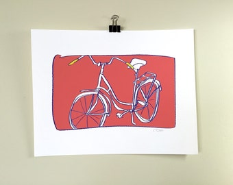 Bicycle.  An archival print.