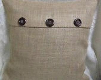 Ivory linen/cotton blend 16x16 pillow cover