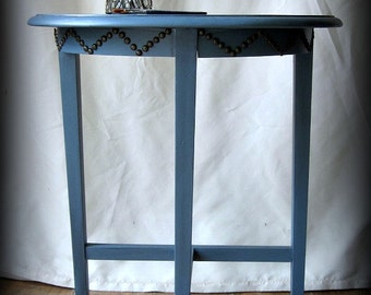 Moody Blue Demi Lune Half Moon Table~Shipping isn't INCLUDED