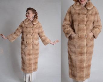 Vintage 1960s Mink Wedding Coat - Full Length Fur - Winter Bridal Fashions