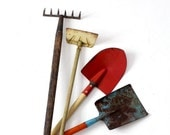 SALE vintage children's garden tools