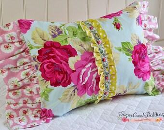 Charlotte Center Ruffled Boudoir Pillow,