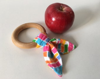 Wooden Baby Teething Toy,  Eco Friendly, Waldorf Toy, Baby Gift, New Baby,