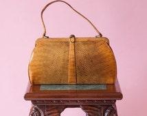 ON SALE MAPPIN & Webb Ltd. Lizard Bag Fashionable British Handbag Vintage 1960's London Fashion Regent Street Hmq Quality and Beauty