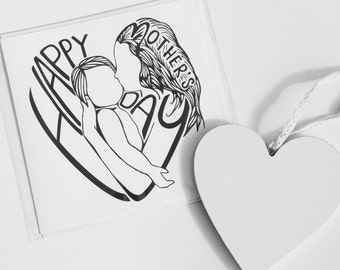 Mother's Day Card | Happy Mothers Day | Lovely Mothers Day Card | Mothers Day | I love you mom | I love you mum | Mother and Child