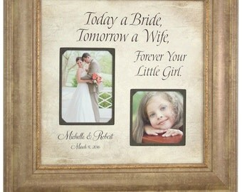Wedding Photo Frame, BRIDE, Photo Booth, Parents, Father of the Bride, Custom Wedding Sign, Decoration, Frames, Today A Bride,  16 X 16