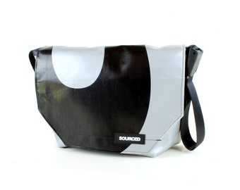 Large Messenger Bag made from Recycled Truck Tarp, Man Bag, Satchel Style Bag, MacBook Bag (54.01)