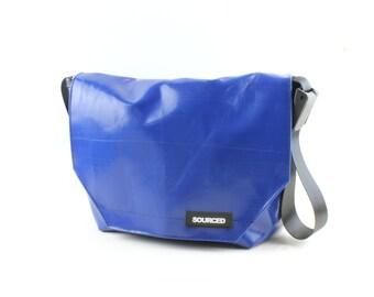 Large Messenger Bag made from Recycled Truck Tarp, Man Bag, Satchel Style Bag, MacBook Bag (50.01)