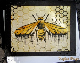 Wasp Greatting Card,  Blank Card