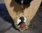 SALE Vintage Tribal Pendant Rope Necklace