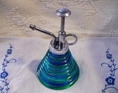 Vintage Colored Glass Water Decorative Plant Mister or Sprayer