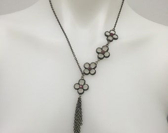 CA Nickle Flowered Necklace