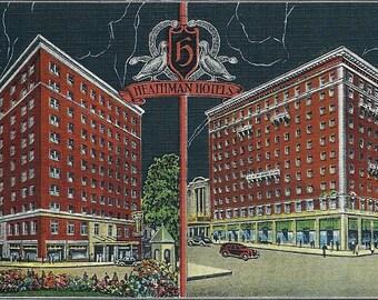 Vintage Portland Oregon Postcard Historic Heathman Hotel