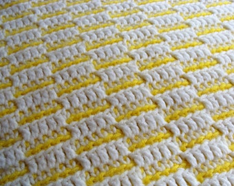 Yellow White Lap Blanket Crochet Sale 75 % Off