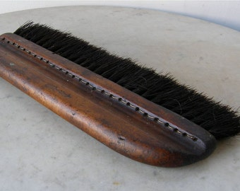 """OLD DRAFTING BRUSH Wood Handle Thick Bristles 10"""" Long Made & Signed by Rosenthal N Y Nice Primitive Brush American Made Early 20th Century"""