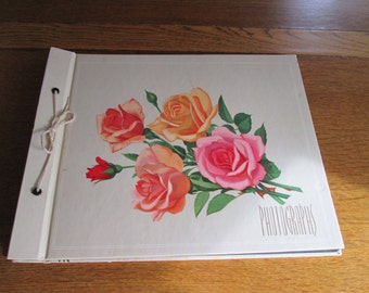 Sweet Vintage Photo Albumn Blank Pages Never Used Roses Gorgeous